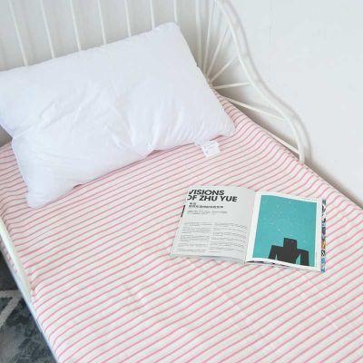 日系简洁 全棉水洗棉床单单件 纯色单人双人床单床品学生宿舍1.8