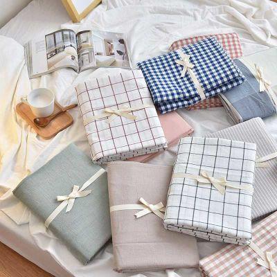 日系水洗棉床笠床单单件席梦思床垫保护套纯棉1.5/1.8全棉纯色