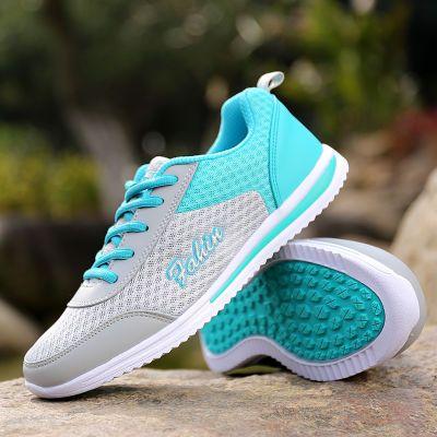 气垫运动鞋女鞋网面镂空透气休闲鞋跑步运动学生旅游鞋健身鞋
