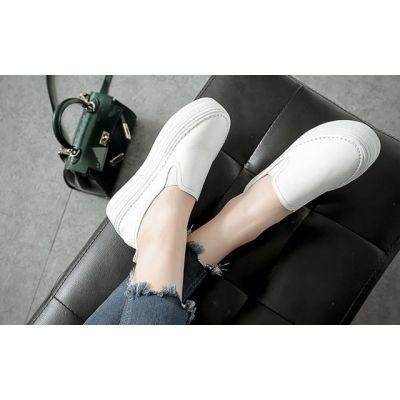 女鞋秋季新款高跟欧洲站豆豆鞋女学生韩版夏夏籍鞋帆布鞋原宿港风