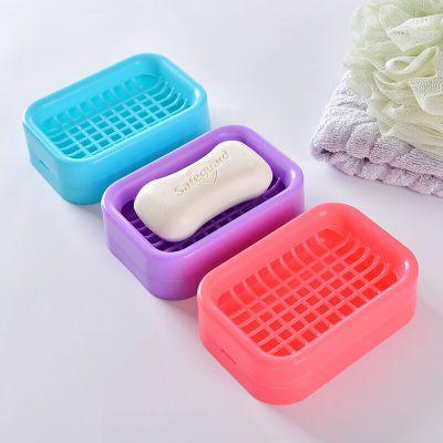 塑料香皂盒 实用沥水肥皂盒 香皂盒网格肥皂托 一个装颜色随机