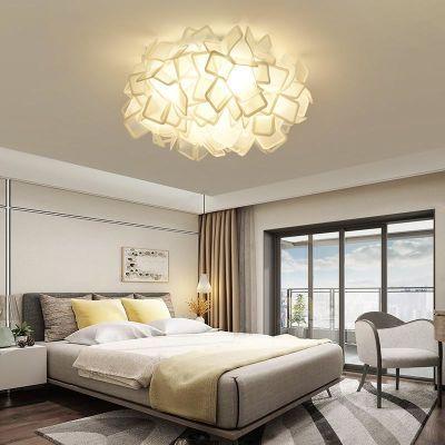 ��树北欧现代简约卧室吸顶灯客厅主卧温馨浪漫儿童房婚房圆形灯具