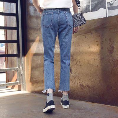 背带牛仔裤女岁妈妈秋装直筒礼服女学生韩版长款裙女宽松高腰哈伦