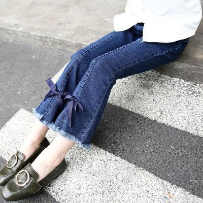 女孩短裤宝宝哈伦裤男牛仔长裤男岁男孩秋装男裤子秋女孩阔腿裤牛