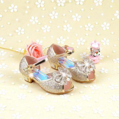 新款2018金色儿童鞋宝宝凉鞋女童高跟鞋银女孩小公主夏季鞋3岁鞋