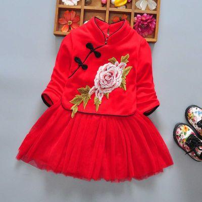 女童针织套装秋装新款韩版卫衣洋气新娘装旗袍儿童女夏韩版岁包包