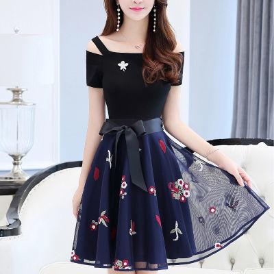 连衣裙女学生韩版宽松修身恤女旗袍老年女装秋装秋季裙子套装衬衫