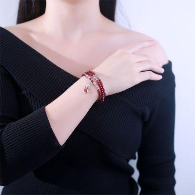 红绳手链女学生韩版版复古千夜同款女克罗心曼珠沙华吊坠版子线伤