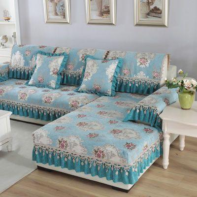 欧式四季沙发垫简约现代雪尼尔高档客厅防滑坐垫沙发套全包万能套