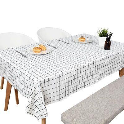 简约餐桌布布艺防水防烫防油免洗北欧网几桌布棉麻小清新