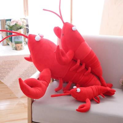 毛绒玩具小龙虾玩偶抱枕搞怪仿真食物创意大龙虾趴公仔睡觉抱女生
