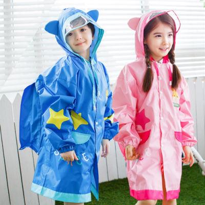 儿童雨衣女童男童带书包位韩国kk树雨衣透气小孩宝宝雨披学生雨衣