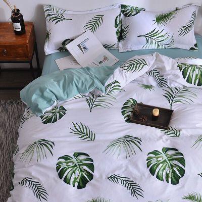 路易・苏裸睡水洗棉件套床上用品被套床单磨毛件套宿舍床