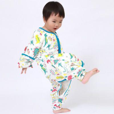 格林 婴儿睡袋可拆袖春秋纯棉宝宝分腿冬加厚儿童纱布防踢被四季
