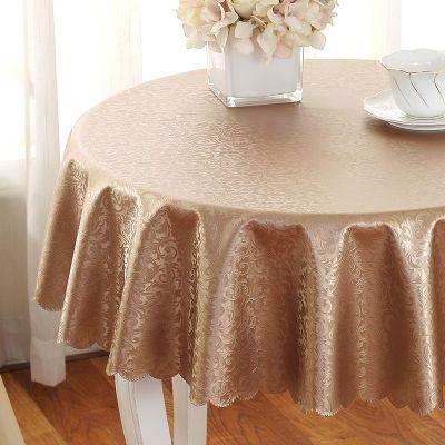 餐桌布防水布艺茶几桌布防烫桌垫正长方形圆形桌布台布电视柜盖布