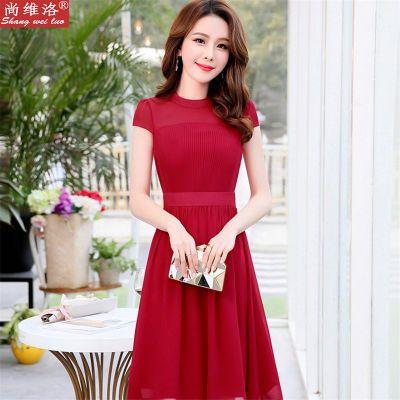 【尚维洛】夏天气质连衣裙2018新款成熟休闲宽松范雪纺裙
