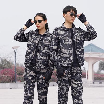 正品黑鹰迷彩服套装男户外作战作训服女特种兵军装学生军训训练服