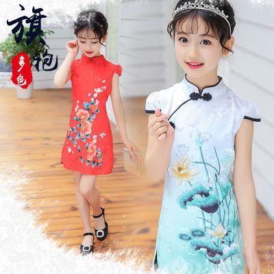儿童套装女夏韩版宽松儿童件套女秋装女童裙子女款旗袍女背带裙件