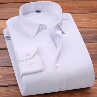 2018青年秋冬季商务新款工装男士保暖衬衫男加绒加厚纯色浅色绒