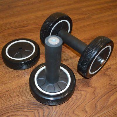 健腹轮轮轴承男士女用腹肌轮实芯轴滚轮健身核心力量训练器械