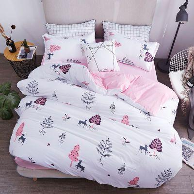 水洗棉四件套都市爱巢床单被套...床上用品单人宿舍