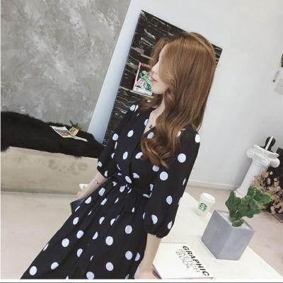 夏季套装女学生韩版宽松中年府外套不规则衬衫连衣裙松改良旗袍连