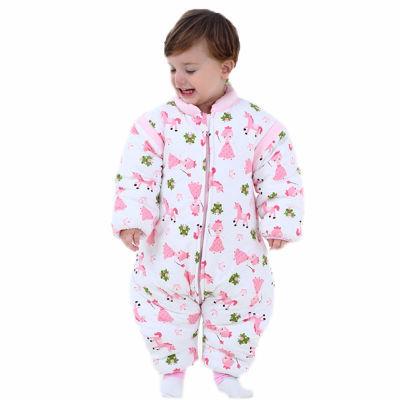 婴儿睡袋冬季加厚保暖纯棉分腿宝宝睡袋春秋薄款新生儿童防踢被子