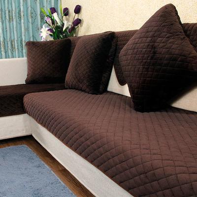 定制冬季短毛绒加厚沙发垫套防滑简约现代法兰绒套装欧式客厅坐垫
