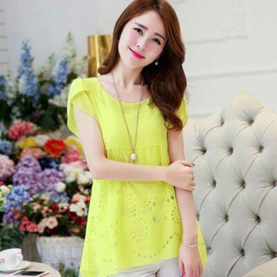 韩版衣服长袖梵雪妮小披肩玫红色恤女大款短袖女韩版娃娃衫上衣婚
