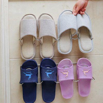 浴室鞋架家用卫生间放拖鞋架简易免打孔壁挂门口铁艺收纳小鞋架子