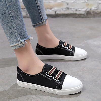 小学生凉鞋女小黑鞋女韩版民族风女鞋涂鸦帆布鞋休闲小白鞋船袜女