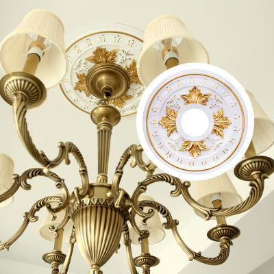 欧式客厅吊顶装饰灯盘天花板吊灯造型仿石膏圆形顶装造型灯池包邮