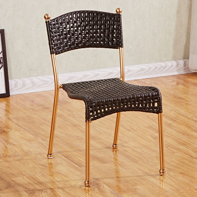 时尚小藤椅子背靠椅手工编织田园阳台椅子户外儿童椅家用餐椅凳子