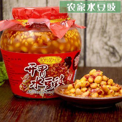 贵州特产开胃水豆豉2瓶装农家小吃辣椒豆豉酱凉拌蘸水调料豆瓣酱