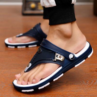 凉鞋男士拖鞋男人字拖新款防滑浴室内外凉拖鞋时尚潮流洞洞沙滩鞋