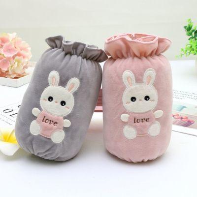 买三送一护袖套韩版中长款卡通可爱女宝兔子手套袖头冬季儿童毛绒