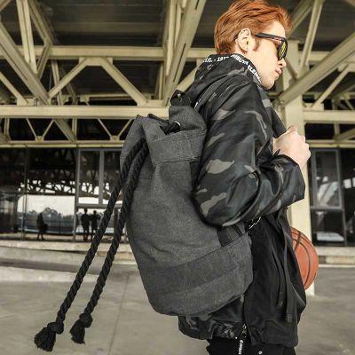 旅行抽绳帆布束口包袋水桶篮球包士户外运动训练健身背包男双肩包