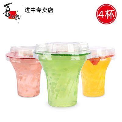 喜之郎果��CICI果汁果�鏊�可以吸的果��218g/杯*4杯包�]�和�零食