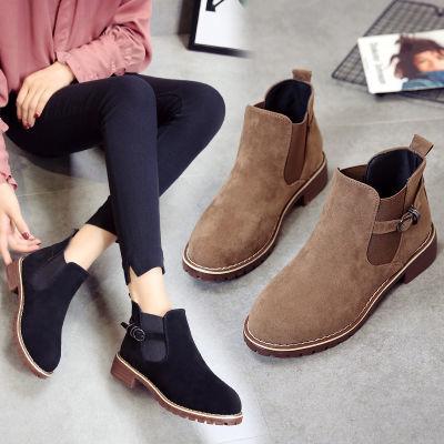 【掌柜推荐】马丁靴女英伦风复古秋季2018新款韩版短靴女机车靴子