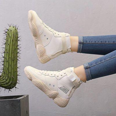 女鞋子2018新款潮百搭休闲嘻哈高帮韩版网红欧洲站学生街舞火焰鞋