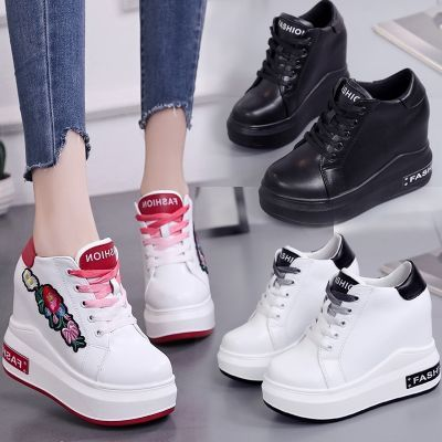 老爹鞋内增高10cm高跟鞋春季2018新款女百搭坡跟厚底秋休闲鞋潮