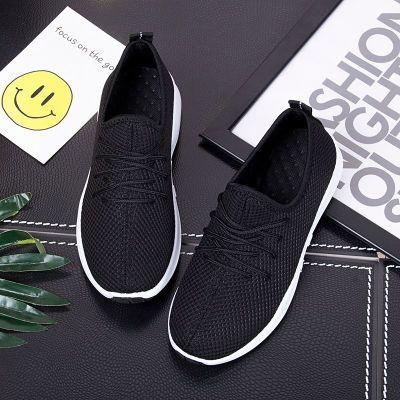 2018秋季透气小红鞋运动休闲学生网鞋镂空女鞋韩版平底单鞋