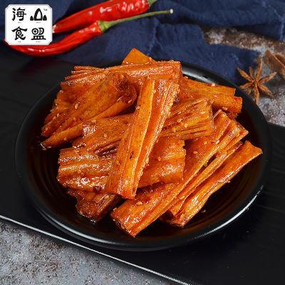 山盟海食妈妈豆皮辣卷100g*4包儿时怀旧辣零食小吃网红辣条多规格