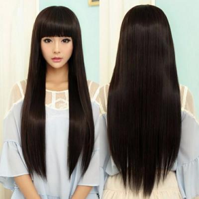 2018新款假发女长直发齐刘海假发套学生长发长卷发全头套假头发图片图片