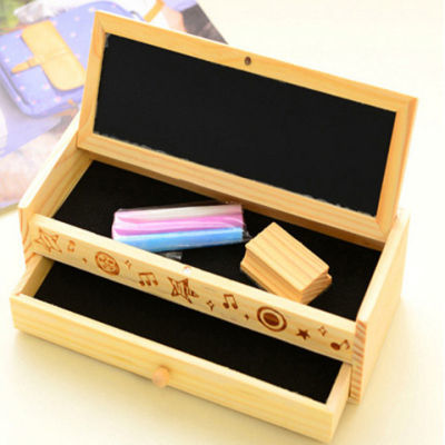 新款日韩国文具多功能木制铅笔盒DIY创意抽屉文具盒笔袋儿童笔盒
