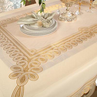 烫金PVC欧式桌布防水免洗塑料布艺餐桌布软玻璃台布防油桌垫茶几
