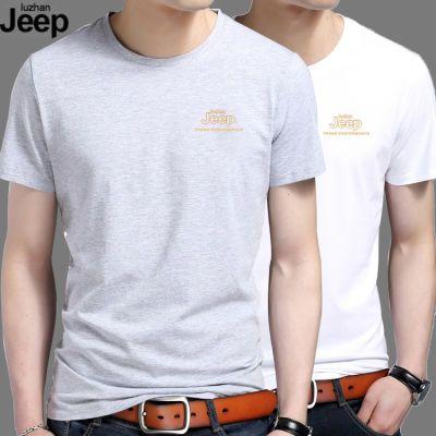【2件装】luzhanJEEP纯棉夏季男装短袖t恤男短袖男士短袖t恤半袖