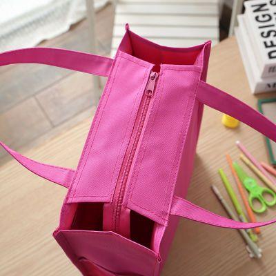 男女中小学生A4书本补习袋手提袋帆布防水美术袋补课包上班文件袋