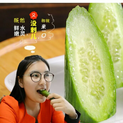 新�r蔬菜�o刺水果荷�m小�S瓜青瓜日本青瓜沙拉菜��皮生吃5斤