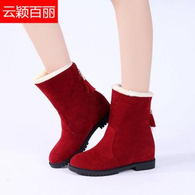 【云颖百丽】雪地靴女款学生韩版加绒加厚中筒靴防滑保暖棉鞋靴子
